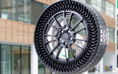 Michelin e GM avançam com conceito de pneu / roda sem ar como opção OE